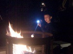 Our son roasting a marshmallow