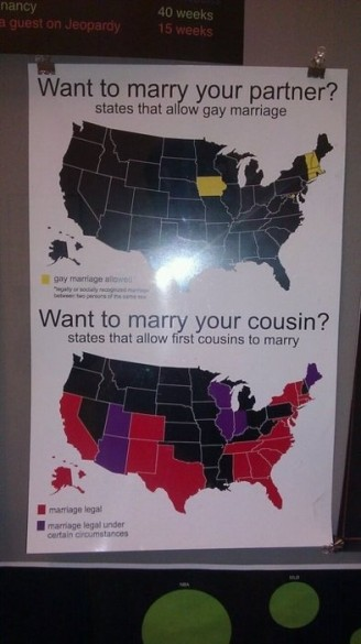More states allow cousin marriage than gay marriage