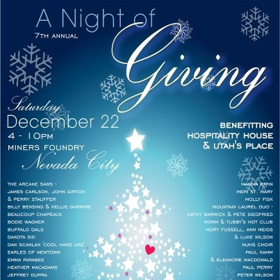 """A Night of Giving"" at Miners Foundry in Nevada City on Saturday night"