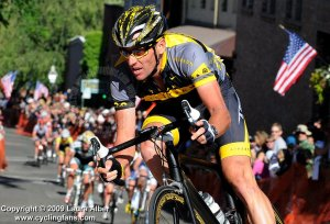Armstrong winning 2009 Nevada City Classic