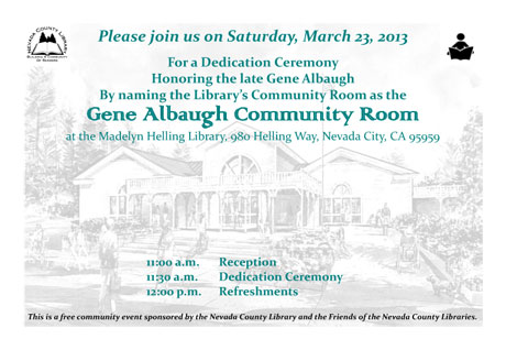 A new Gene Albaugh Community Room at County Library