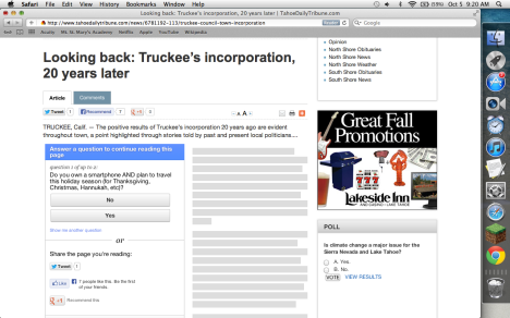 New kind of paywall at Swift's Tahoe newspapers: Answer a marketing question to access articles
