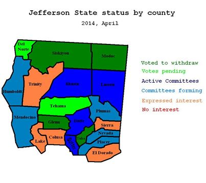 Nevada and Placer counties now being targeted for State of Jefferson movement