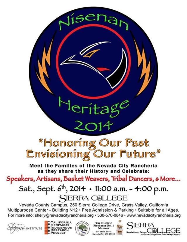Nisenan Heritage Day is September 6