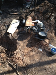 Our photos show homeless camp near where fire started behind Pioneer Park