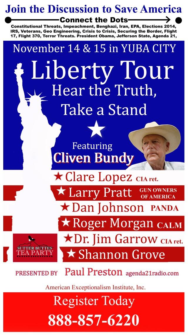 Cliven Bundy speaking in Yuba City on November 14