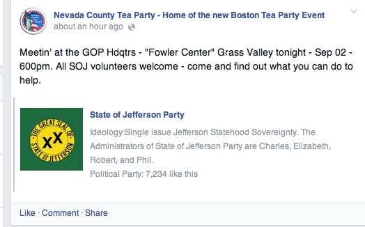 Local GOP headquarters hosts a State of Jefferson meet-up