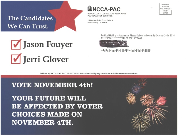 """NCCA-PAC mails a """"candidate report card"""" to GV residents"""