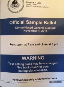 My sample ballot arrived yesterday