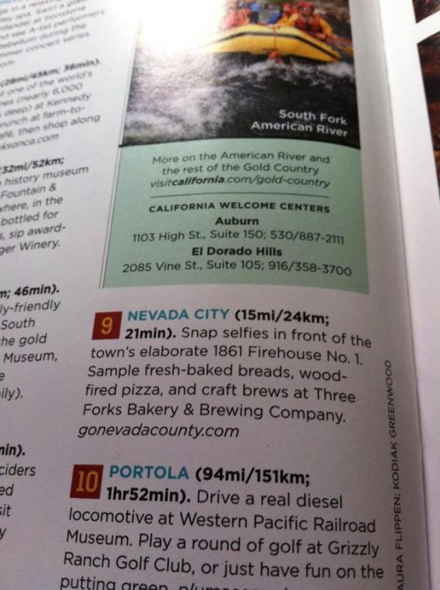 GoNevadaCounty.com cited in Sunset magazine