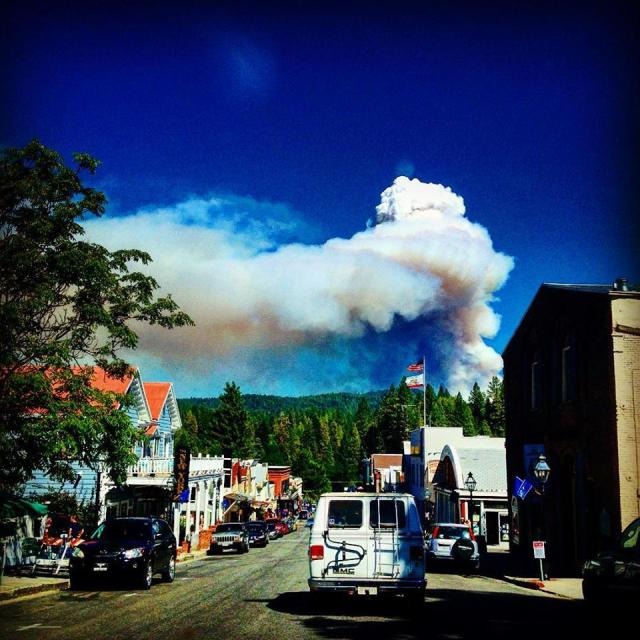 Major fire forces local evacuations — readers submit photos