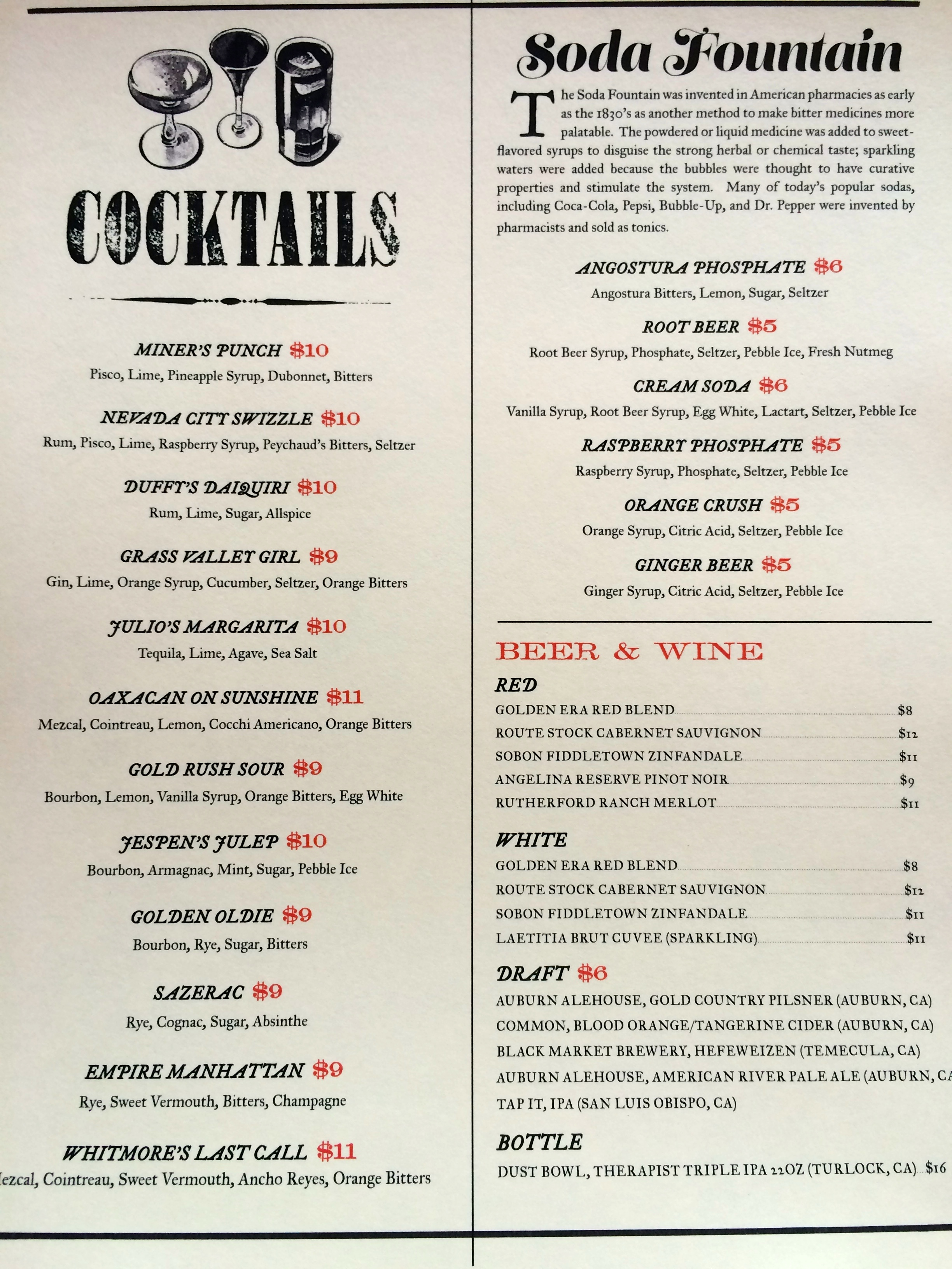 sample drink menu jessica giardina