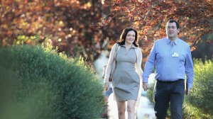 Sheryl Sandberg, chief operating officer (COO) of Facebook, and her husband David Goldberg, CEO of SurveyMonkey. (Photo: Scott Olson/Getty Images)