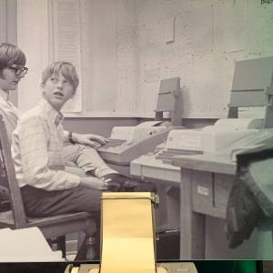 "Paul Allen and Bill Gates, circa 1971. ""Kiddos, do your homework!"" (Source: Living Computer Museum in Seattle)"