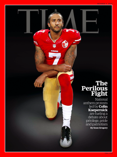 Kaepernick is on the cover of Time, not Sports Illustrated