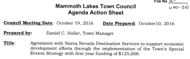Davies of Grass Valley Chamber and ex-city manager Holler reunite in Mammoth Lakes deal — well almost