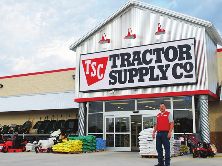 Tractor Supply Company is a chain of retail stores that sells farm and ranch goods. They are located in 49 out of 50 US states. Tractor Supply has consistent hour across their network of stores.